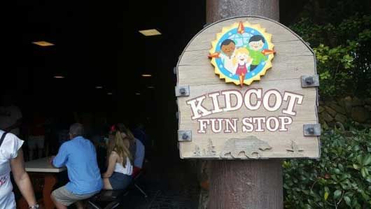 Give the kids and yourself a break at the Kidcot Funstop while you are visiting the Canada Pavilion at Epcot. The covered area is also a nice place to get away from any rain showers. #Canada Pavilion #Epcot