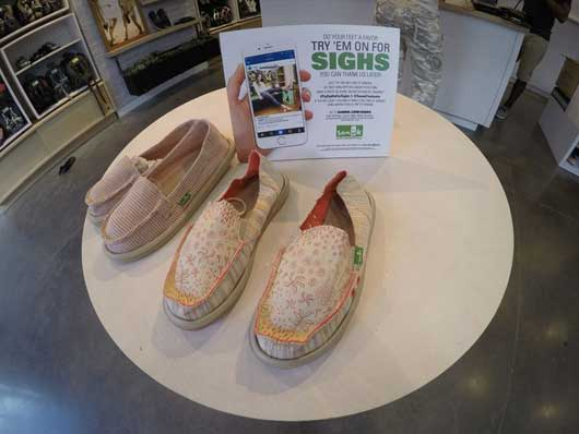 #DisneySprings #Sanuk Your feet will sign in relief as you walk around in a pair of Sanuks. The cushion is made from the same material as yoga mats. Be on the lookout for different contests in the Disney Springs store.
