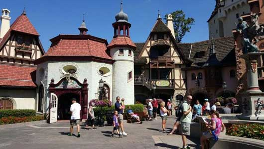 Each building in the Germany Pavilion is unique in its own right. You will find structures from a variety of regions here. #WorldShowcase #GermanyPavillion