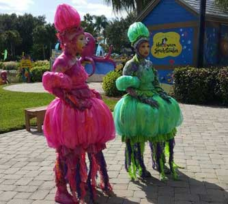 Colorful staff are dressed in their Halloween best at SeaWorld during the Halloween Spooktacular. #SeaWorldSpooktacular