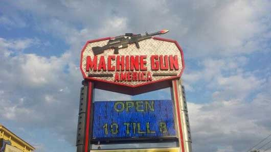 One of the few places where you can fire a real machine gun, without actually owning the gun, is at Machine Gun America. #MachineGunAmerica