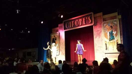 Bunny and her sisters take the stage and take you with them to the gun slinging days in Chicago. #CaposneDInnerShow