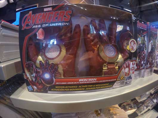 If you're an Iron Man fan you can find a set of functional gloves. They are both motion and touch activated. #SuperheroHeadquarters #DisneySprings
