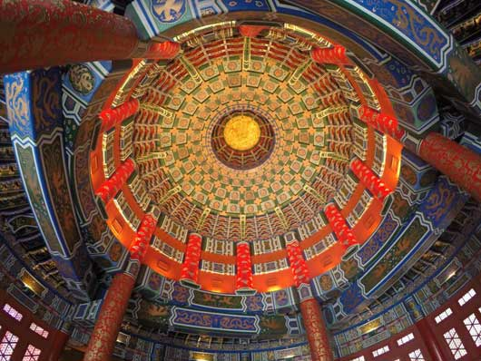 Look up! When you enter the Hall of Prayer for Good Harvest make sure that you also look up to truly get a feel for this beautiful structure. The intricate craftsmanship should not be missed. #ChinaPavilion #Epcot Center