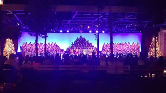 The music that you hear at Epcot's Candlelight Processional is magically created with a 50-person orchestra and full orchestra. #EpcotCandlelightProcessional #Epcot