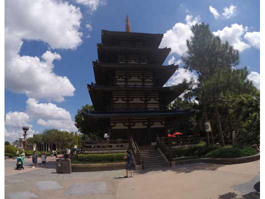 The five-story pagoda you see at the Japan Pavilion is a replica of the Goju-no-to pagoda which is in Ikaruga, Japan. Each level represents an element, which Buddhists believe the universe was created with. They are Earth, Fire, Sky, Water and Wind. #JapanPavilion #Epcot