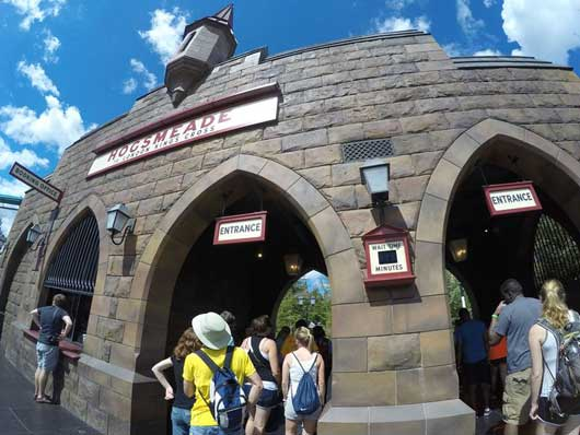 The train station in Hogsmeade is located inside Islands of Adventure. If you have a ticket or annual pass with admission to both parks included you can head into the train station and take the train directly to Diagon Alley which is located in Universal Studios Orlando. #DiagonAlley #IslandsofAdventure