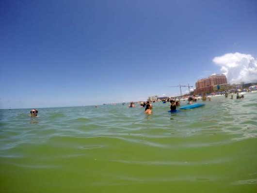 #ClearwaterBeach #OrlandoSightseeingTours Pack or purchase a boogie board to float around on and potentially coast on a few waves. You can head out at least a 10-20 feet without reaching deep water. #ClearwaterBeach
