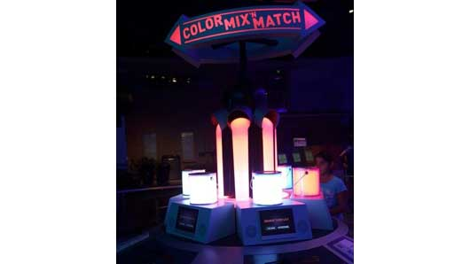 Try your hand at the Color Mix & Match station and see if you can create the same colors that are in the tubes in front of you. #Colortopia #InnoventionsEast