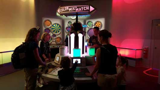 There is fun for everyone at the Colortopia Exhibit at Epcot. There is non-stop fun at all the color stations to enjoy with your group and your fellow park guests. #Colortopia #InnoventionsEast