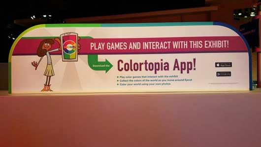 The fun at Colortopia doesn't have to end when you leave the attraction. There is an app available for both Apple and Google. #Colortopia #InnoventionsEast