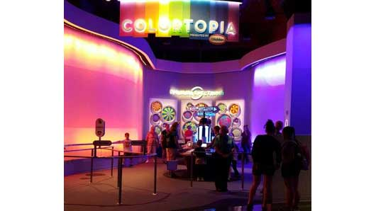 Check out the new Colortopia experience in Innoventions West when you visit Epcot. #Colortopia #InnoventionsEast