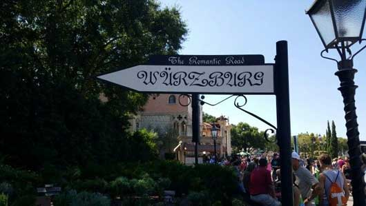 Even the street signs in the Germany Pavilion have a German flare. #WorldShowcase #GermanyPavillion