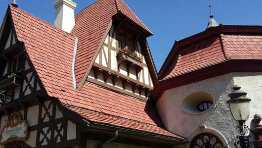 A lot of attention to detail can be seen in the buildings in the Germany Pavilion. #WorldShowcase #GermanyPavillion