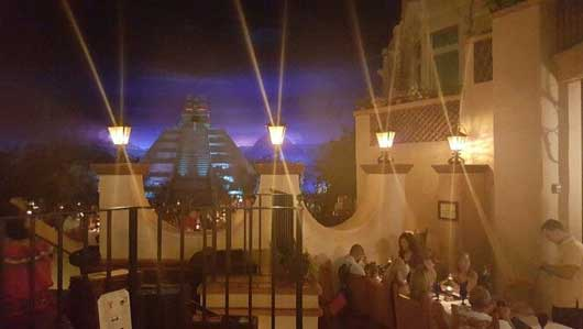 If you look towards the rear of the indoor area of the pavilion you will see anotherAztec pyramid. San Angel Inn Restaurante is also located in this area. This restaurant is the sibling to Mexico City's restaurant of the same name, which dates back to 1692. #MexicoPavillion #WorldShowcase