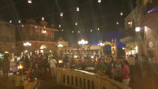 As you pass the lobby area you will enter a bustling Mexican town. It's always evening in this town and the lights are always on. Wander through the streets and get a taste of life in a small Mexican town. #MexicoPavillion #WorldShowcase