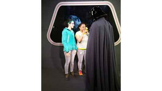 If you decide to take a walk on the dark side and meet Darth Vader be wary when he asks to see your favorite Goofy toy, you never know who he might turn on. #StarWarsLaunchBay