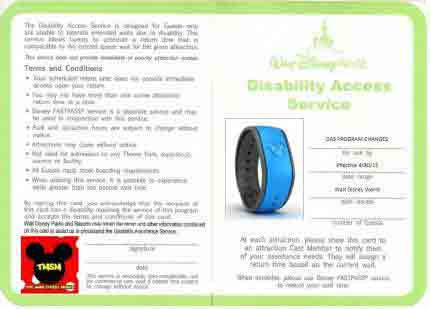 disney parks disability access service card