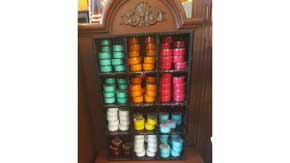 Inside the gift shop there are great smelling bath scrubs and body lotions available to purchase. #AmericanPavillion #WorldShowcase