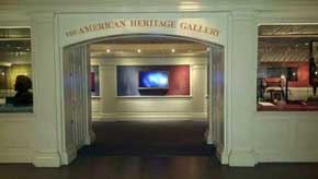The American Heritage Gallery is inside the main building in the United States Pavilion. There is a great deal of American history that makes it to this mini museum throughout the year. #AmericanPavillion #WorldShowcase
