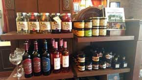 Inside the gift shop you will find a large assortment of gifts including wine, marmalades and even moonshine! #AmericanPavillion #WorldShowcase