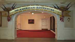 Get ready to walk the red carpet once the next showing of The American Adventure Attraction begins. Due to the length of the show you want to make sure that you arrive a at least a few minutes early so you aren't waiting 45 minutes for the next viewing. #AmericanPavillion #WorldShowcase